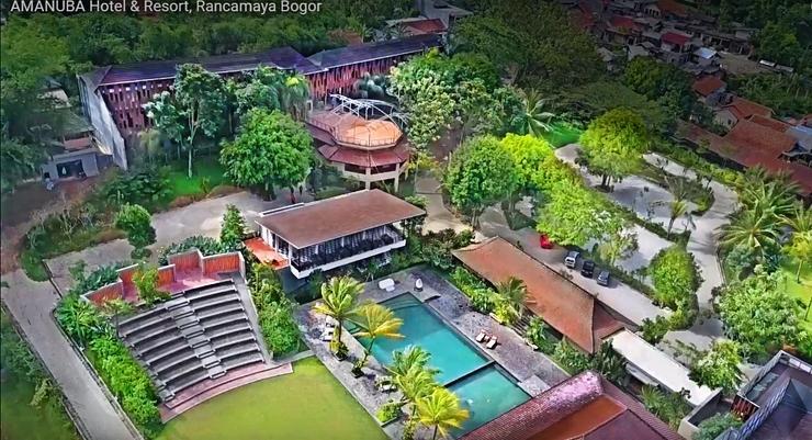 Amanuba Hotel & Resort Rancamaya Bogor - Drone view