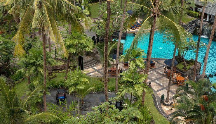 Hotel Melia Purosani Yogyakarta - Pool Aerial