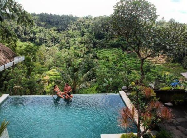Green View Private Villas Ubud - swimming pool