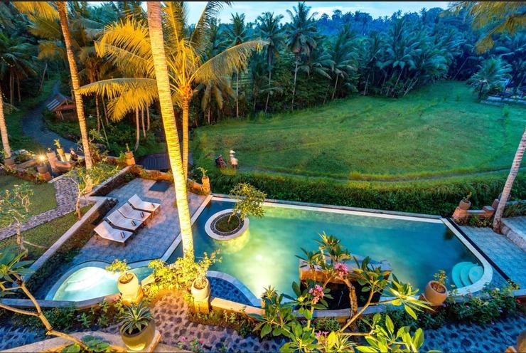 Umasari Rice Terrace Villa Bali - Kolam Berenang