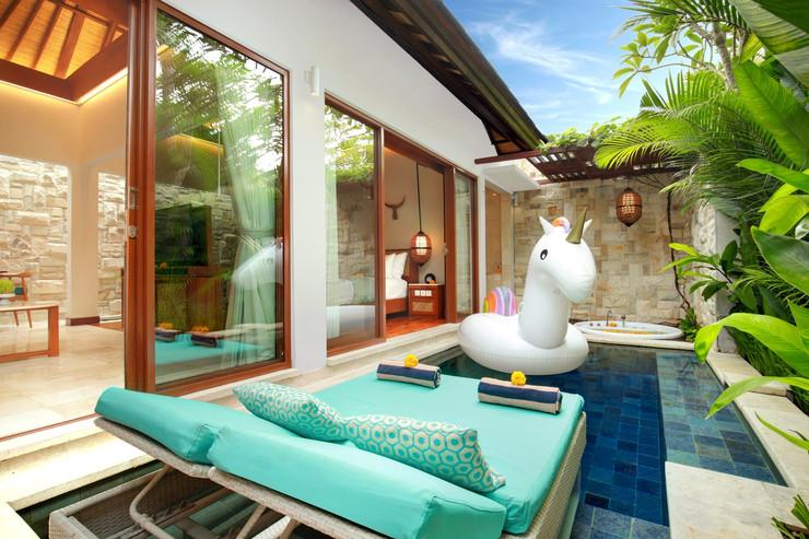 Aksari Villa Seminyak Bali - Private Pool with Sun Bed
