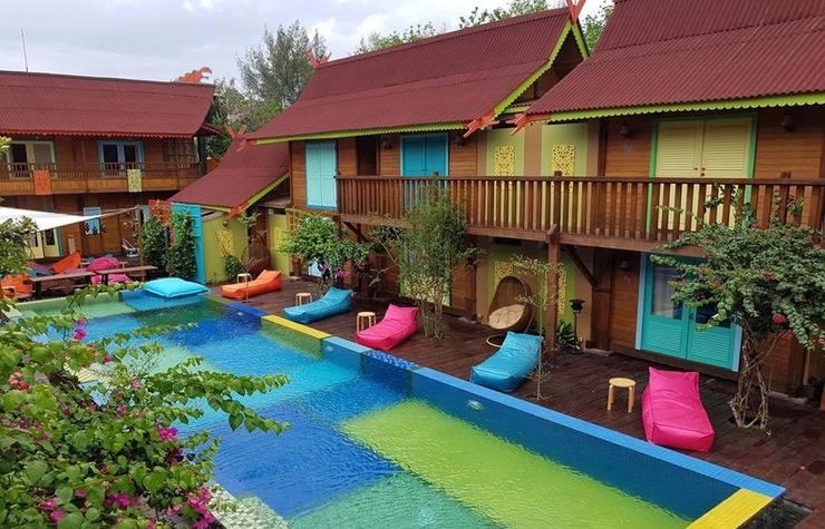 Bleu Verde hotel Turtle Point Beach Lombok - Pool