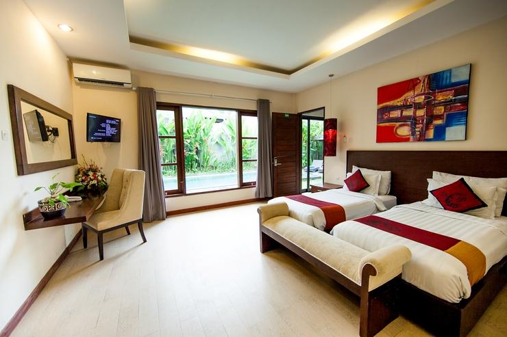 D' Sawah Villa Umalas Bali - TWIN BEDROOM