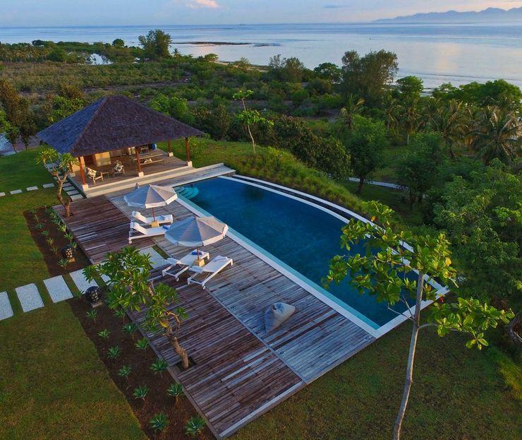 Villa Selalu Gili Gede Lombok - pemandangan kolam renang dan laut