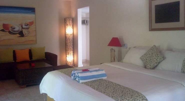 Bali Santi Bungalows Bali - Bed Kamar Suite Pemandangan Taman.