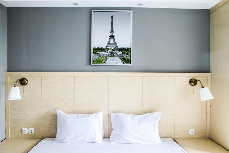 Modern and Cozy Studio Room @ Oasis Apartment By Travelio Bekasi - Kamar tidur