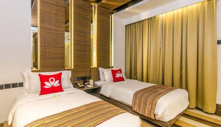 ZenRooms by pass Ngurah Rai Suwung - Tempat tidur Twin