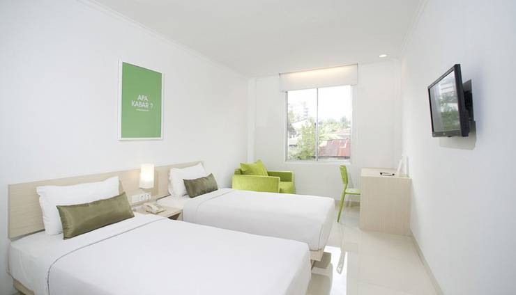 Zuri Express Hotel Pekanbaru - Kamar Deluxe dengan 2 tempat tidur