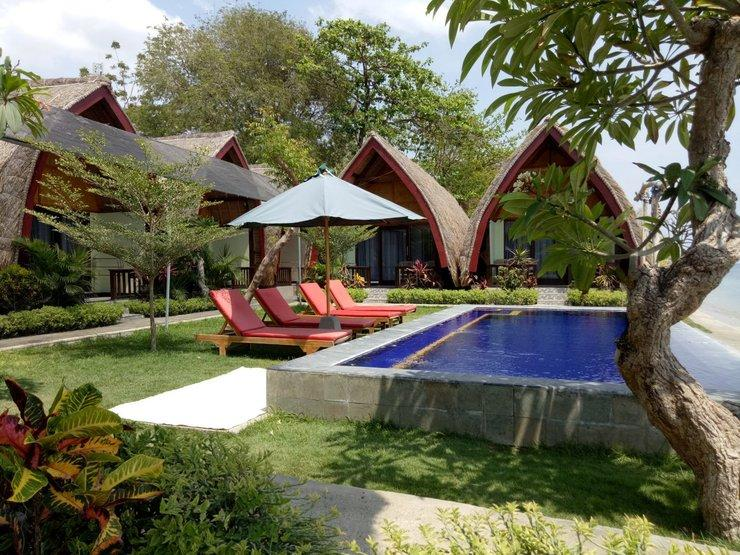 Krisna Bungalow and Restaurant Lombok - pemandangan