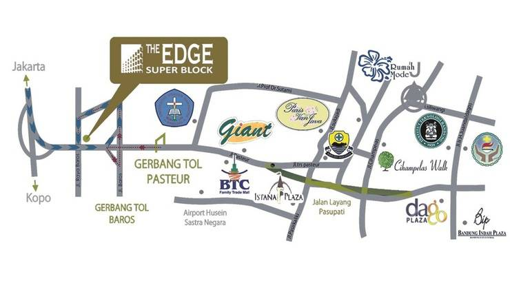 High Livin Apartment Bandung - Map