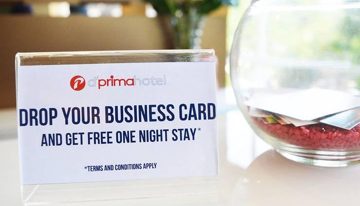 d'primahotel ITC Mangga Dua Jakarta - Drop your business card
