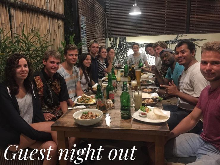 Ostic House Yogyakarta - makan malam bersama tama