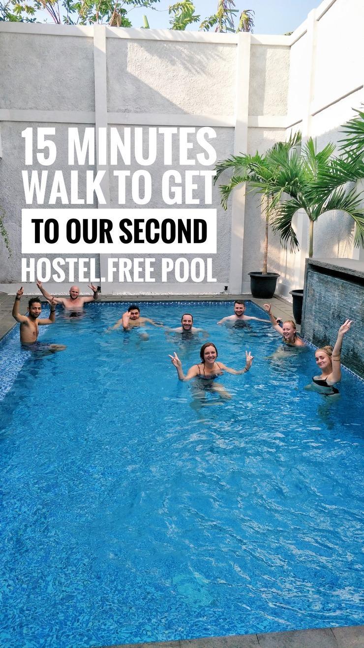 Ostic House Yogyakarta - kolam reang di hostel media