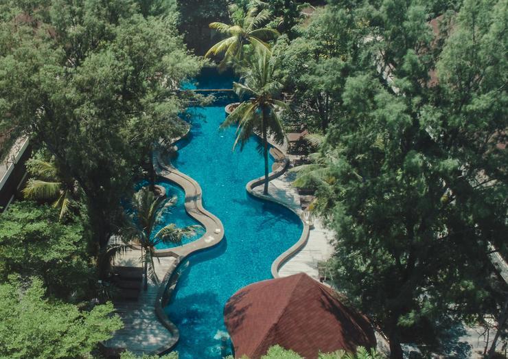 Aston Sunset Beach Resort - Gili Trawangan - Aerial View
