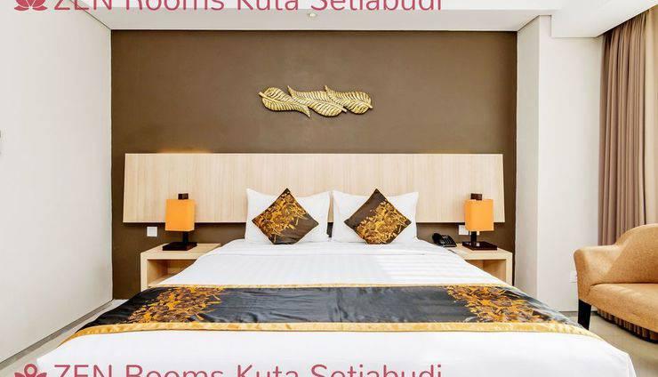 ZenRooms Kuta Setiabudi Bali - Tampak tempat tidur double