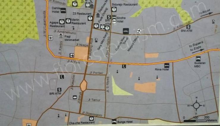 Hotel Rima Ruteng Ruteng - Map