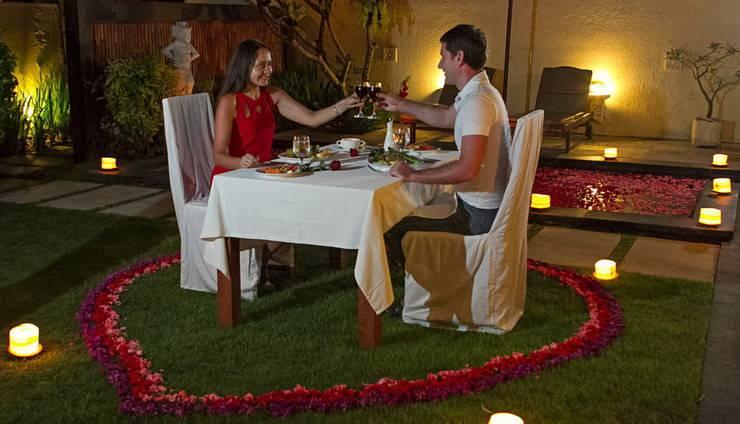 Bali Baliku Private Pool Villas Jimbaran - Candle light Dinner at Villa