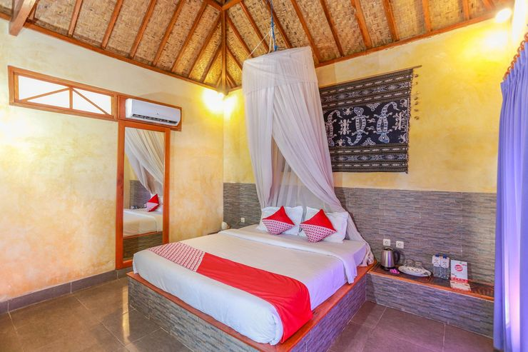 OYO 1172 Biba Beach Village Lombok - Bedroom