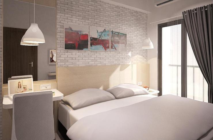 Expressia Stay Tangerang Selatan - Combo - Kamar tidur utama (queen bed)