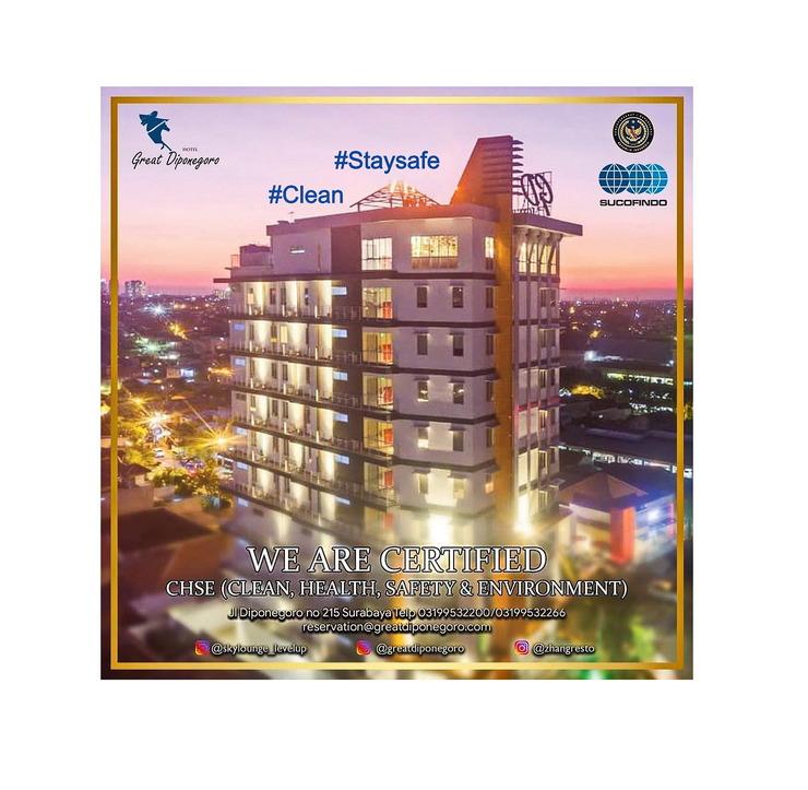 Great Diponegoro Hotel Surabaya Surabaya - CHSE Cover