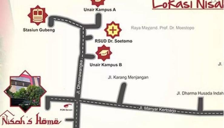 Nisa Home Syariah Homestay Surabaya - Lokasi