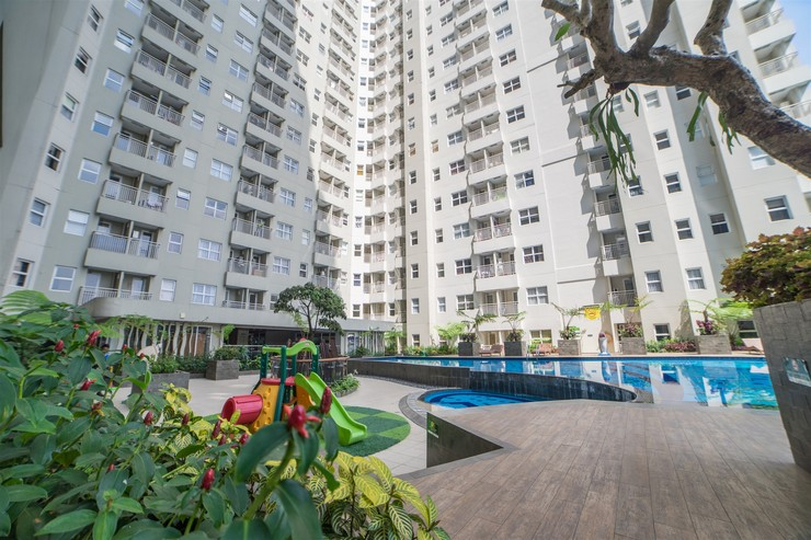 Modest 1BR Apartment at Parahyangan Residence By Travelio Bandung - Gedung