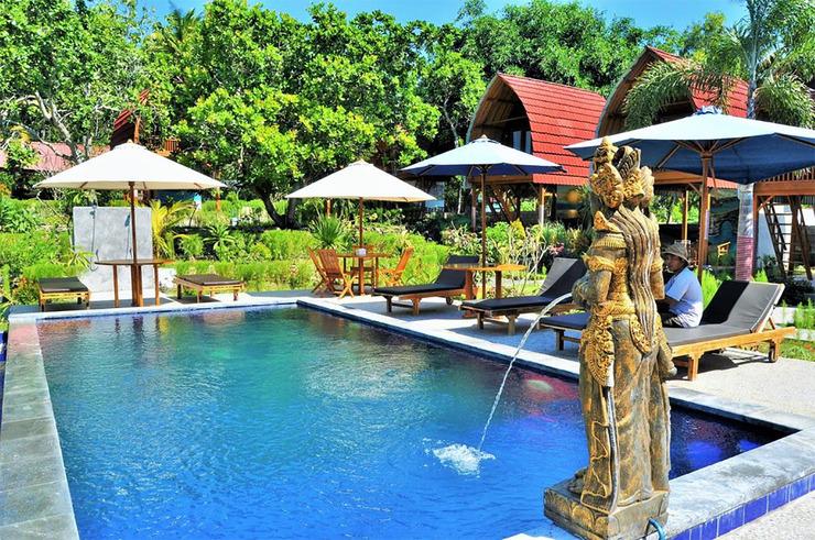 Kubu Sental Cottages Nusa Penida Bali - View