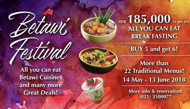 Redtop Hotel & Convention Center Jakarta - Buffet Buka Puasa