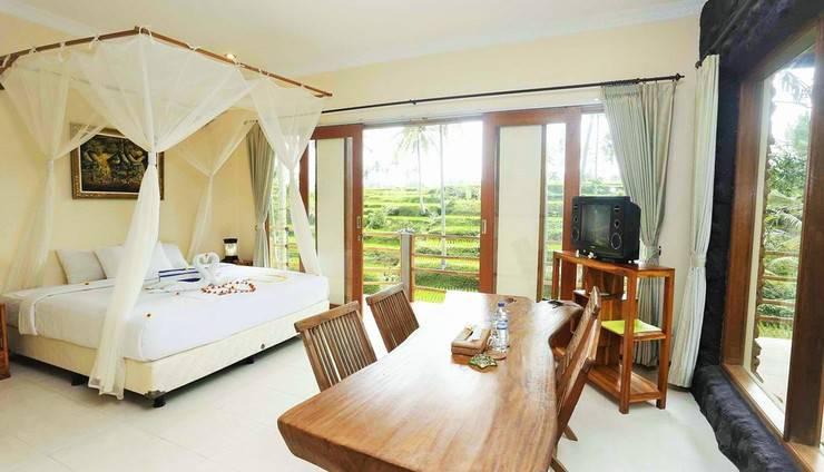 Junjungan Suite Villa Bali - Suite Deluxe Tempat Tidur Queen