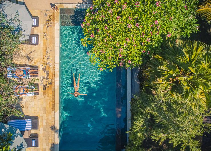 Minabali Bunga'lo Bali - Swimming Pool - Drone View