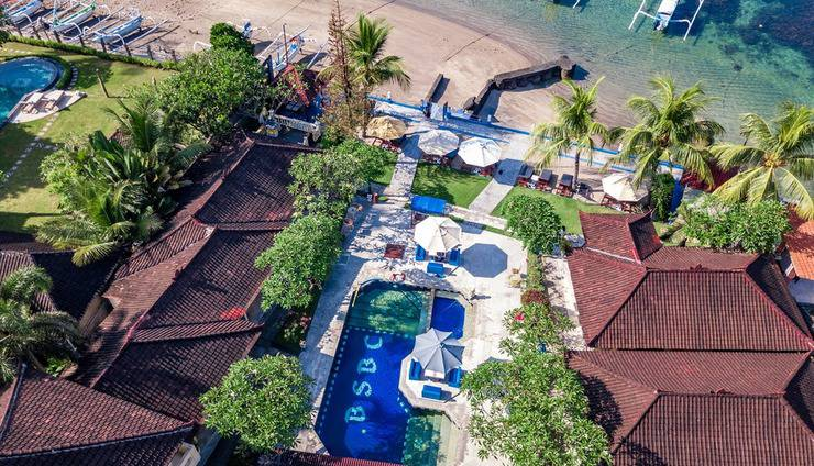 Bali Seascape Beach Club Candidasa - tampak dari udara