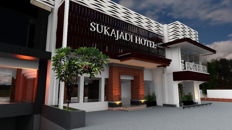 Sukajadi Hotel Bandung - pintu masuk utama