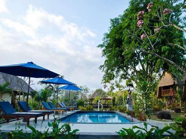 Lotus Garden Huts Bali - Kolam Renang