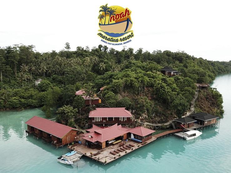 Noah Maratua Resort  Berau - Tampak Atas