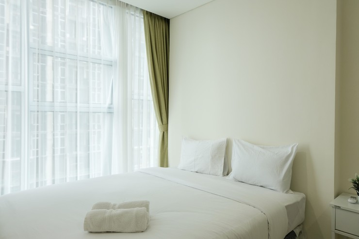 Simply and Relax 1BR @ Brooklyn Apartment By Travelio Tangerang Selatan - Kamar tidur