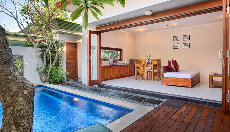 Villa Tukad Alit Bali - One Bedroom Villa Living