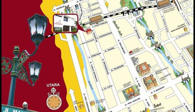Hotel Perdana Yogyakarta - Peta