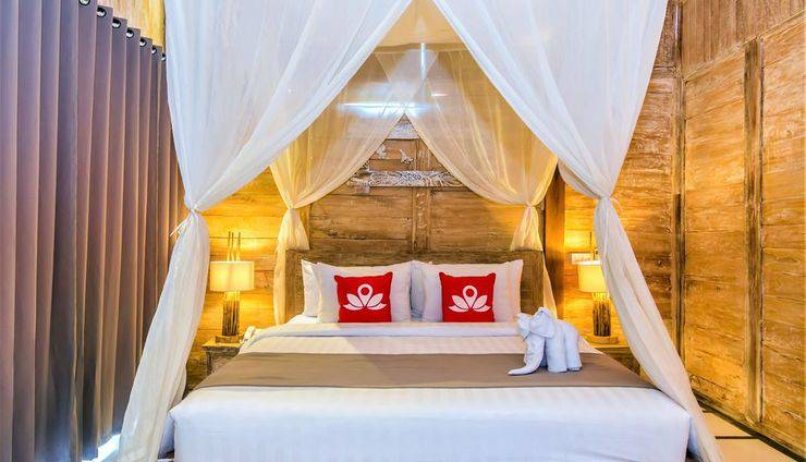 ZEN Premium Ubud Nyuh Bojog Bali - Tampak tempat tidur double