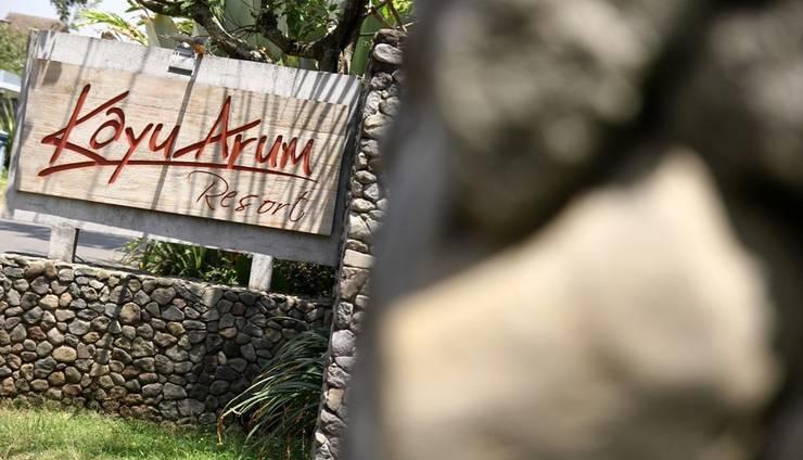 Kayu Arum Resort Salatiga - Pintu masuk utama
