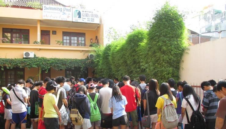 Gloria Amanda Hotel Yogyakarta - rombongan anak ssekolah