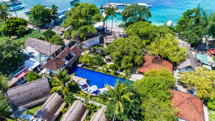 Oceans 5 Dive Resort Lombok - View