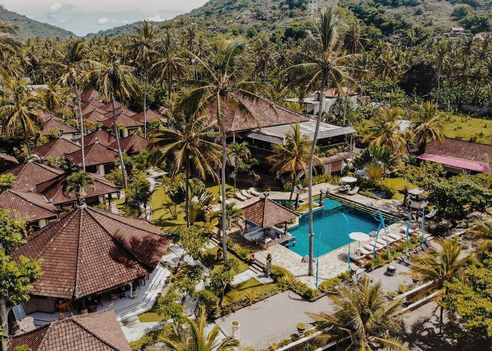 Puri Bagus Candidasa Bali - View with pool