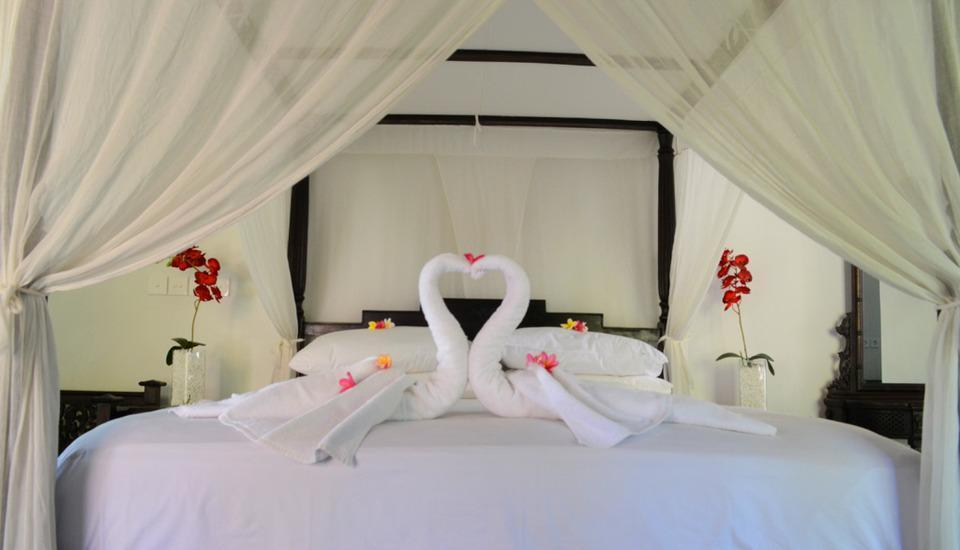 Medewi Bay Retreat Bali - Dekorasi untuk bulan madu