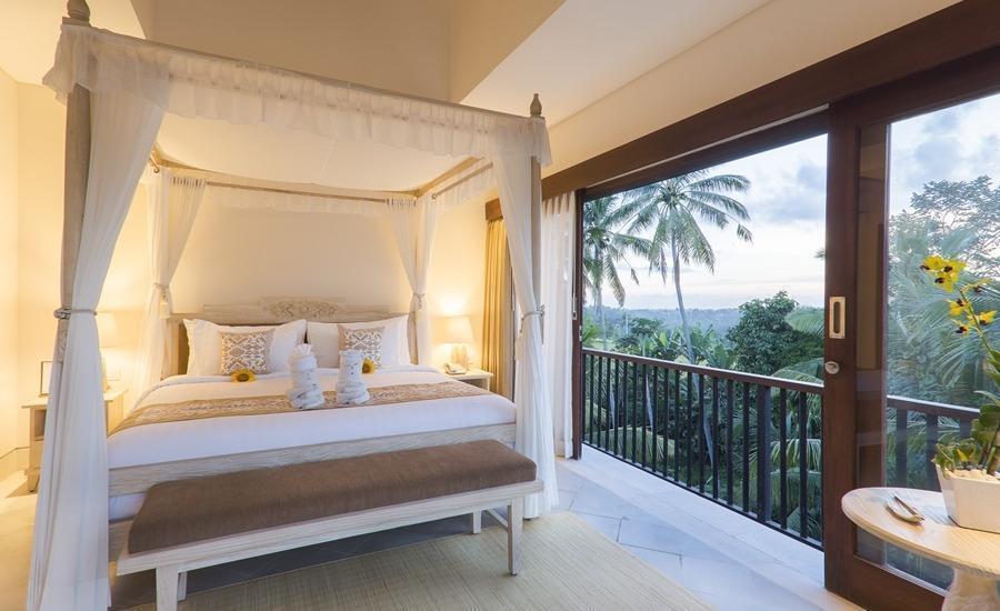 Visesa Ubud Resort Bali - 2BR Pool Sky Villa - Master Room