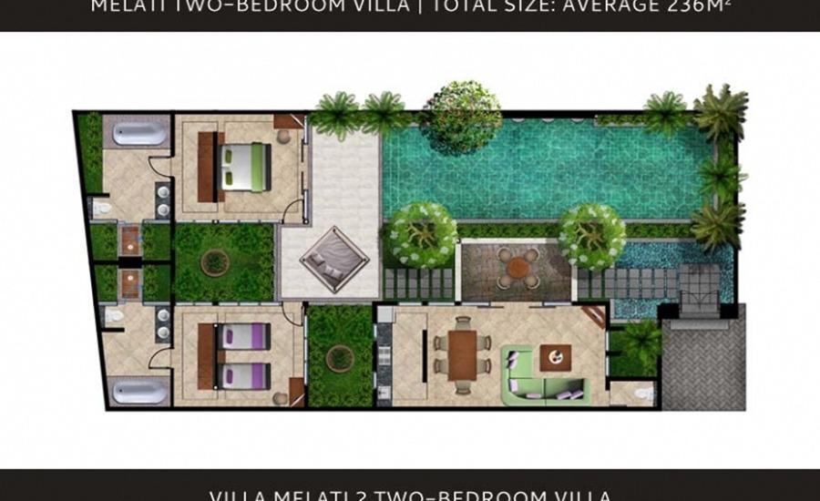 The Royal Purnama Art Suites & Villas Bali - Peta