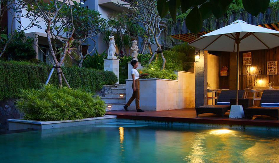 Pandawa All Suite Hotel Bali - pemandangan kolam renang