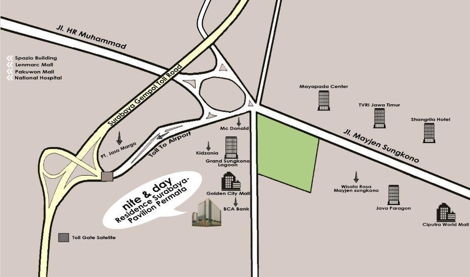 Nite & Day Residence Pavilion Permata - Surabaya Surabaya - maps