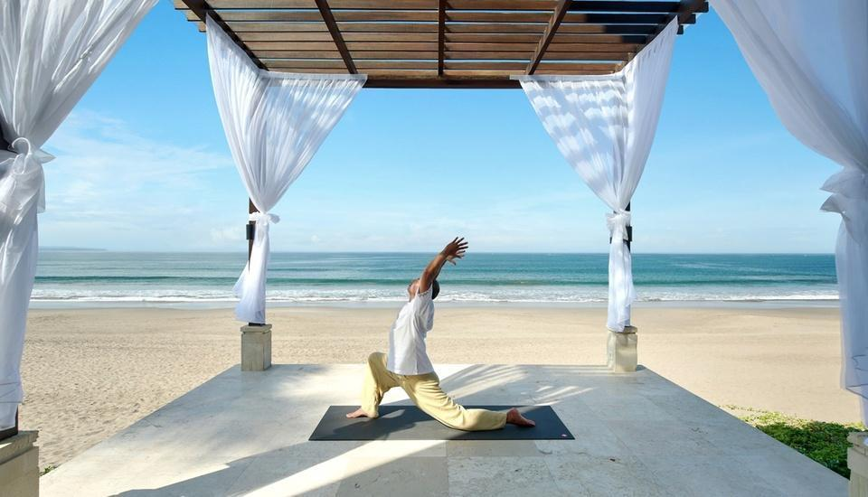 Seminyak Beach Resort Bali - Yoga Pose by the Chaple