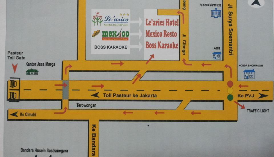 Le Aries Garden Boutique Hotel Bandung - Denah Lokasi