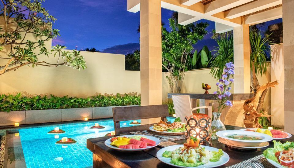 The Tukad Villa Bali - Makan malam romantis